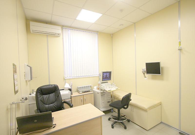 Кабинет УЗИ щитовидной железы в Выборгском филиале центра эндокринологии